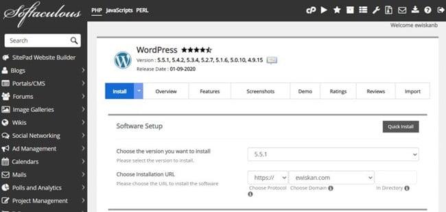 Cara Install WordPress Paling Mudah (Softaculous Auto Installer)